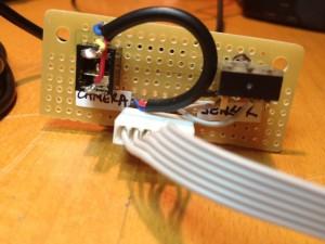 Sensor and Camera Connector Board (Back)