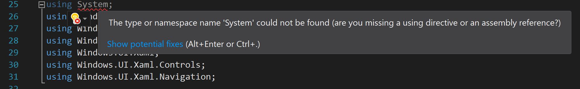 Using System Error